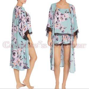 Midnight Bakery Floral & Lace 3 Piece Pajamas Set